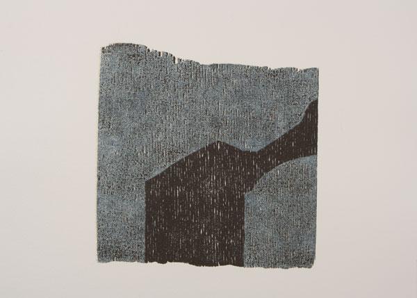 figur 2, 2010<br />Holzschnitt auf Bütten, 62 x 52 cm